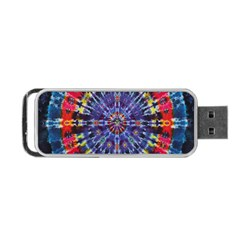 Circle Purple Green Tie Dye Kaleidoscope Opaque Color Portable Usb Flash (two Sides) by Mariart