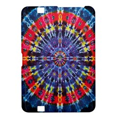 Circle Purple Green Tie Dye Kaleidoscope Opaque Color Kindle Fire Hd 8 9  by Mariart