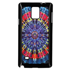 Circle Purple Green Tie Dye Kaleidoscope Opaque Color Samsung Galaxy Note 4 Case (black) by Mariart