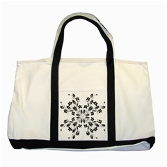 Floral Element Black White Two Tone Tote Bag by Mariart