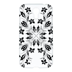 Floral Element Black White Samsung Galaxy S4 I9500/i9505 Hardshell Case by Mariart