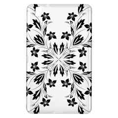 Floral Element Black White Samsung Galaxy Tab Pro 8 4 Hardshell Case by Mariart