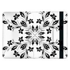Floral Element Black White Samsung Galaxy Tab Pro 12 2  Flip Case by Mariart