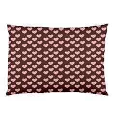 Chocolate Pink Hearts Gift Wrap Pillow Case by Mariart