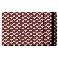 Chocolate Pink Hearts Gift Wrap Apple Ipad 3/4 Flip Case by Mariart