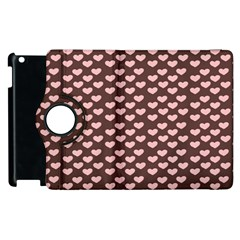 Chocolate Pink Hearts Gift Wrap Apple iPad 2 Flip 360 Case by Mariart
