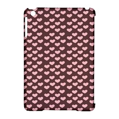 Chocolate Pink Hearts Gift Wrap Apple Ipad Mini Hardshell Case (compatible With Smart Cover) by Mariart