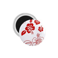 Hawaiian Flower Red Sunflower 1 75  Magnets by Mariart