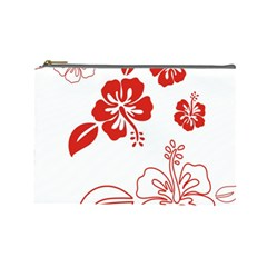 Hawaiian Flower Red Sunflower Cosmetic Bag (large)  by Mariart