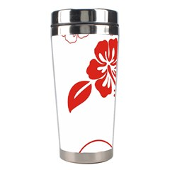 Hawaiian Flower Red Sunflower Stainless Steel Travel Tumblers by Mariart