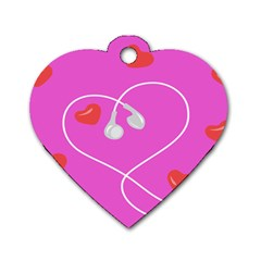 Heart Love Pink Red Dog Tag Heart (one Side) by Mariart