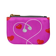 Heart Love Pink Red Mini Coin Purses by Mariart