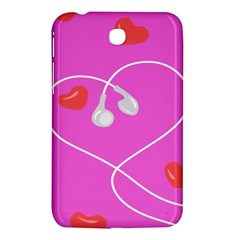 Heart Love Pink Red Samsung Galaxy Tab 3 (7 ) P3200 Hardshell Case  by Mariart