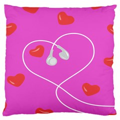 Heart Love Pink Red Standard Flano Cushion Case (two Sides) by Mariart