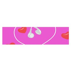 Heart Love Pink Red Satin Scarf (oblong) by Mariart