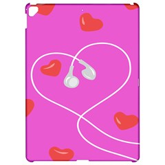 Heart Love Pink Red Apple iPad Pro 12.9   Hardshell Case by Mariart