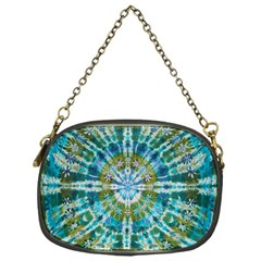 Green Flower Tie Dye Kaleidoscope Opaque Color Chain Purses (one Side)  by Mariart