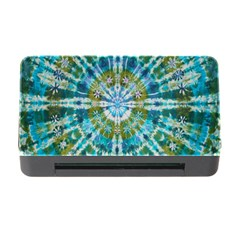 Green Flower Tie Dye Kaleidoscope Opaque Color Memory Card Reader With Cf by Mariart