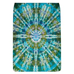 Green Flower Tie Dye Kaleidoscope Opaque Color Flap Covers (l)  by Mariart