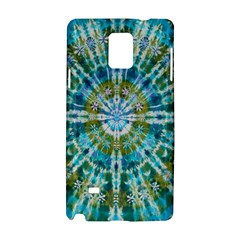 Green Flower Tie Dye Kaleidoscope Opaque Color Samsung Galaxy Note 4 Hardshell Case by Mariart