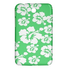 Hibiscus Flowers Green White Hawaiian Samsung Galaxy Tab 3 (7 ) P3200 Hardshell Case  by Mariart