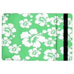Hibiscus Flowers Green White Hawaiian Ipad Air 2 Flip by Mariart