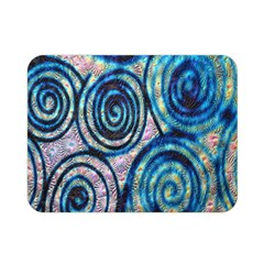 Green Blue Circle Tie Dye Kaleidoscope Opaque Color Double Sided Flano Blanket (mini)  by Mariart