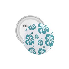 Hibiscus Flowers Green White Hawaiian Blue 1 75  Buttons by Mariart