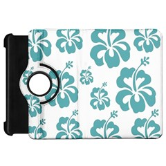 Hibiscus Flowers Green White Hawaiian Blue Kindle Fire Hd 7  by Mariart