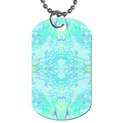 Green Tie Dye Kaleidoscope Opaque Color Dog Tag (two Sides) by Mariart