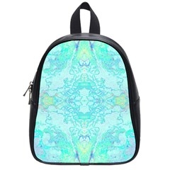 Green Tie Dye Kaleidoscope Opaque Color School Bags (small)  by Mariart
