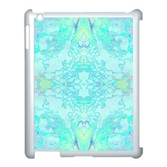 Green Tie Dye Kaleidoscope Opaque Color Apple Ipad 3/4 Case (white) by Mariart
