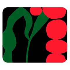 Illustrators Portraits Plants Green Red Polka Dots Double Sided Flano Blanket (small)  by Mariart