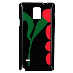 Illustrators Portraits Plants Green Red Polka Dots Samsung Galaxy Note 4 Case (black) by Mariart