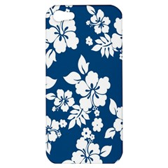 Hibiscus Flowers Seamless Blue White Hawaiian Apple Iphone 5 Hardshell Case by Mariart