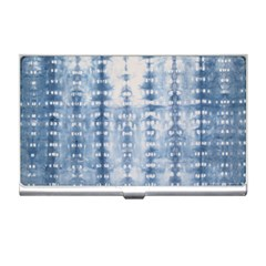 Indigo Grey Tie Dye Kaleidoscope Opaque Color Business Card Holders by Mariart