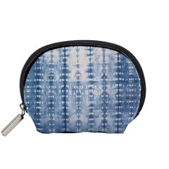 Indigo Grey Tie Dye Kaleidoscope Opaque Color Accessory Pouches (small)  by Mariart