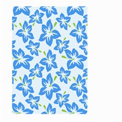 Hibiscus Flowers Seamless Blue Large Garden Flag (two Sides) by Mariart