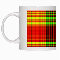 Line Light Neon Red Green White Mugs by Mariart