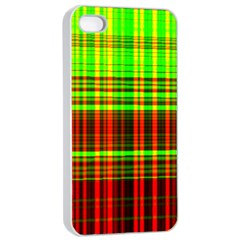 Line Light Neon Red Green Apple Iphone 4/4s Seamless Case (white) by Mariart
