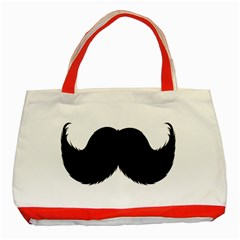 Mustache Owl Hair Black Man Classic Tote Bag (red) by Mariart