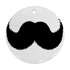Mustache Owl Hair Black Man Round Ornament (two Sides) by Mariart