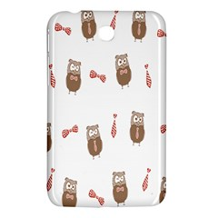 Insulated Owl Tie Bow Scattered Bird Samsung Galaxy Tab 3 (7 ) P3200 Hardshell Case  by Mariart