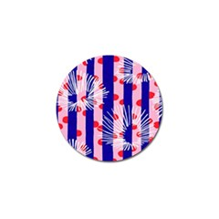 Line Vertical Polka Dots Circle Flower Blue Pink White Golf Ball Marker (10 Pack) by Mariart