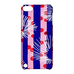 Line Vertical Polka Dots Circle Flower Blue Pink White Apple Ipod Touch 5 Hardshell Case With Stand by Mariart