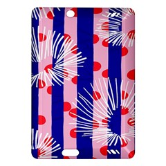 Line Vertical Polka Dots Circle Flower Blue Pink White Amazon Kindle Fire Hd (2013) Hardshell Case by Mariart
