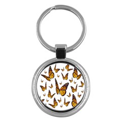 Butterfly Spoonflower Key Chains (round)  by Mariart