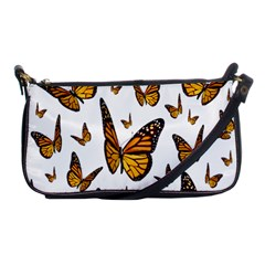 Butterfly Spoonflower Shoulder Clutch Bags by Mariart