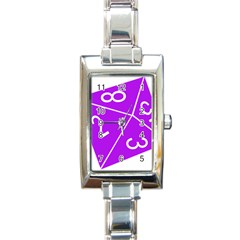 Number Purple Rectangle Italian Charm Watch by Mariart