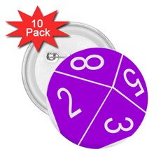 Number Purple 2 25  Buttons (10 Pack)  by Mariart